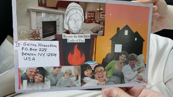 Hestia mail art by Sparrow