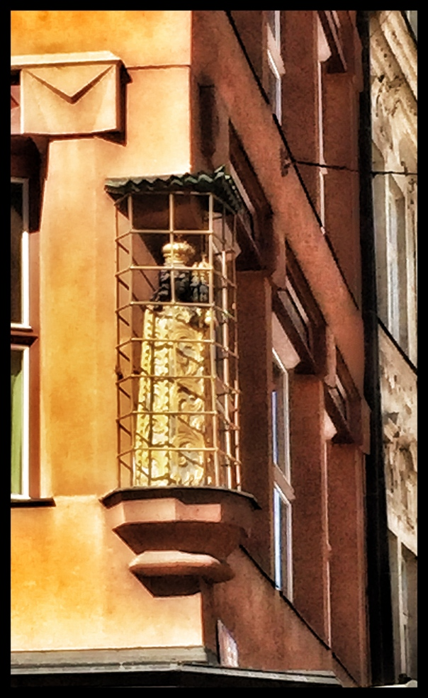 prague black madonna in cage