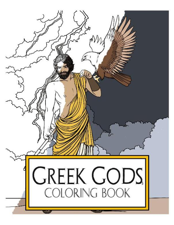 greek coloring book cover