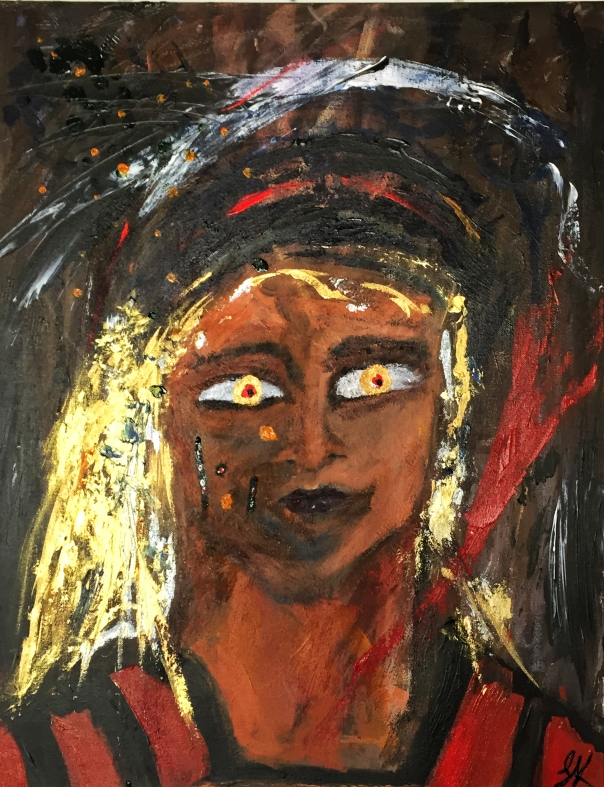 shaman in ochres