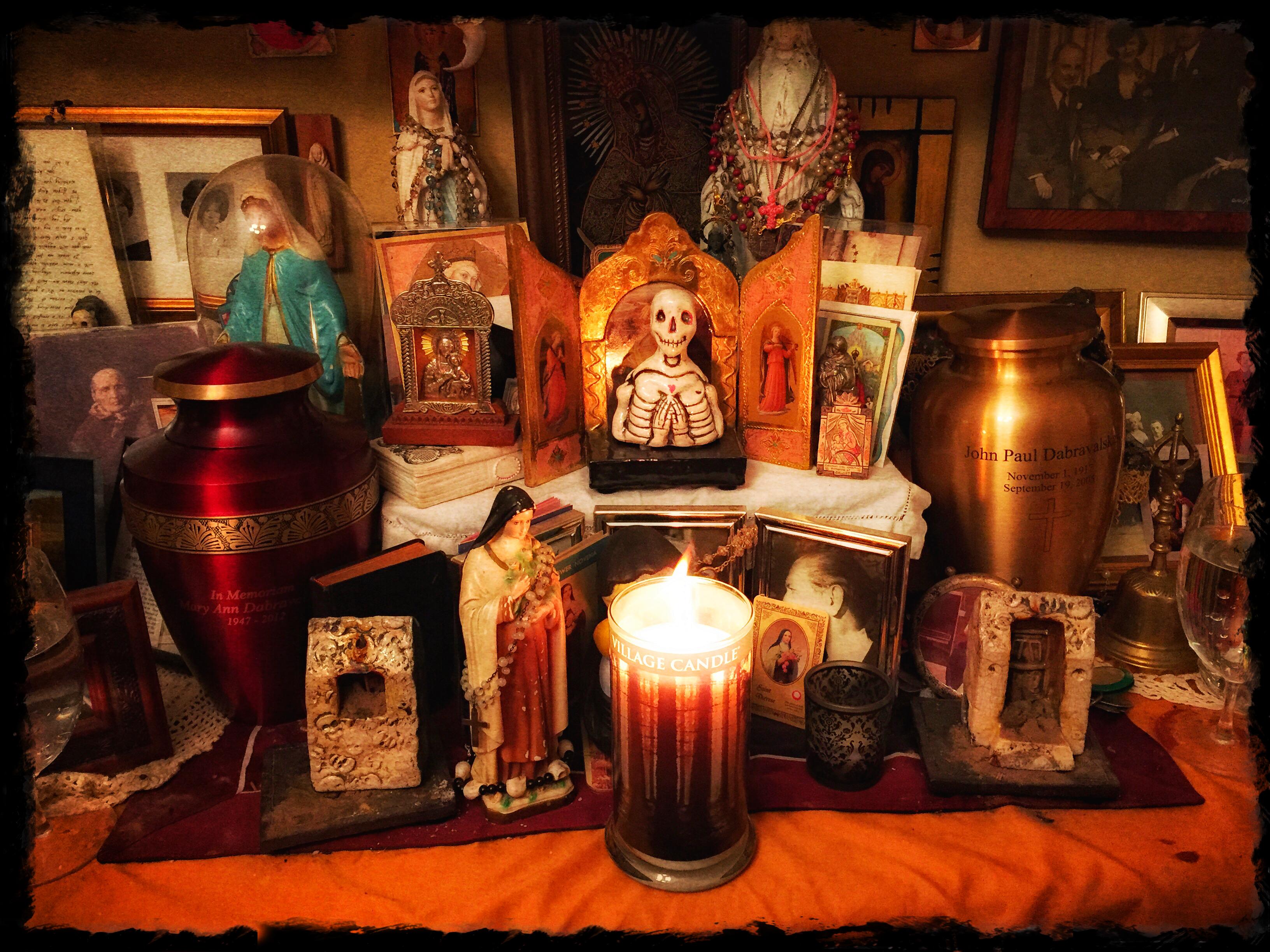 ancestor shrine close up